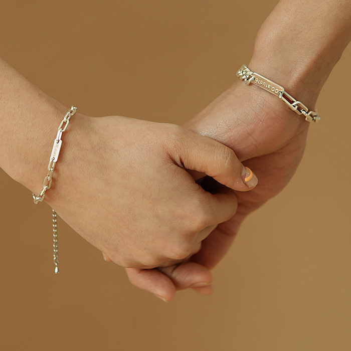 Clip 925 Silver Bracelet (Couple) 5% Sale