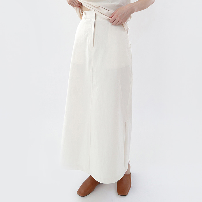 Off slit maxi skirt (Woman)