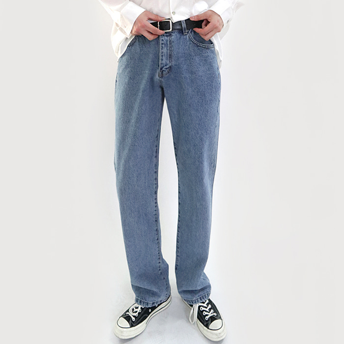 Wide denim pants (Men)