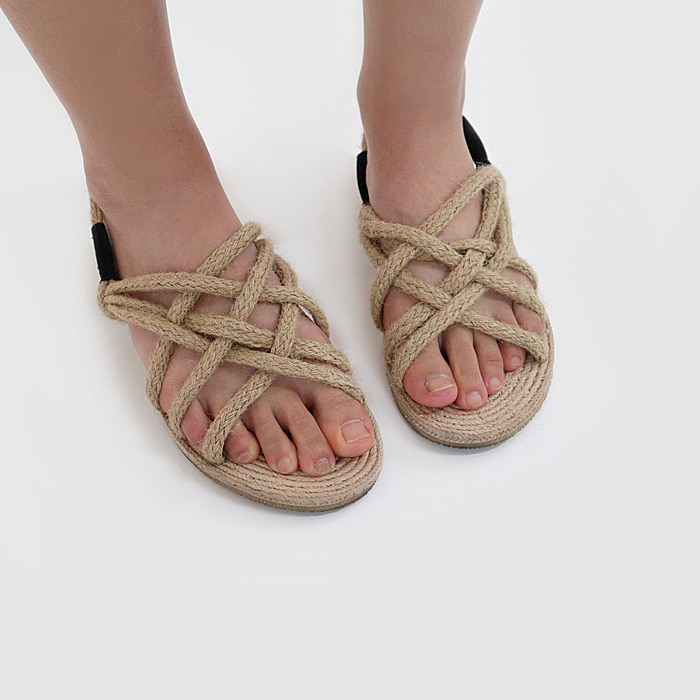 Wood straw shoes (Woman)